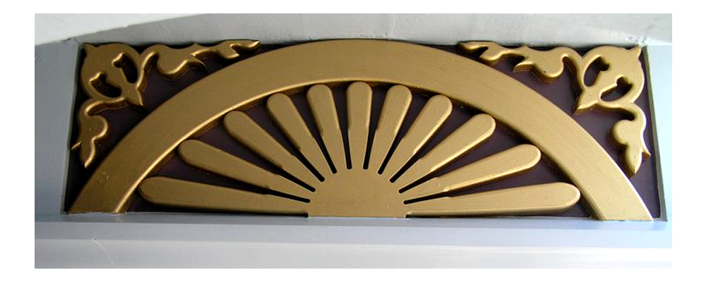 another gold foam house accent piece