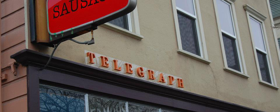 telegraph restaurant sign