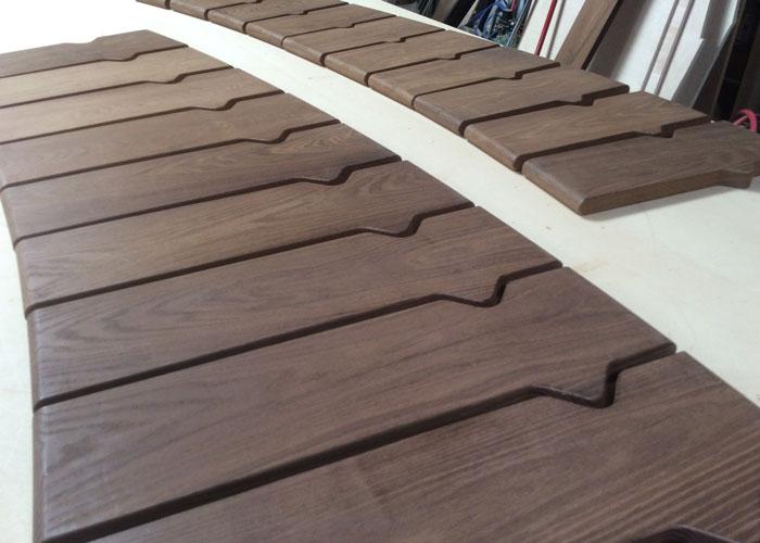 photo of bench slats